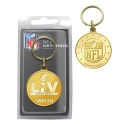 Super Bowl 55 Bronze Coin Key Chain