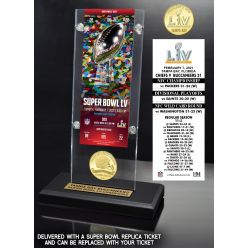 Tampa Bay Buccaneers Super Bowl 55 Champions Bronze Coin Ticket Acrylic