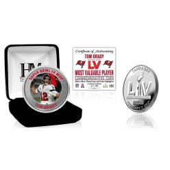Tampa Bay Buccaneers Super Bowl 55 MVP Color Silver Mint Coin