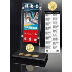 Super Bowl 55 Ticket & Bronze Coin Acrylic Desk Top