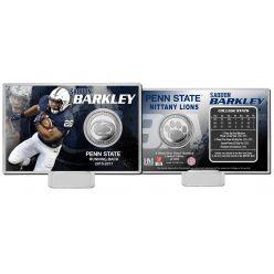 """Saquon Barkley """"Penn State"""" Silver Coin Card"""