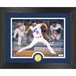 Max Scherzer Dodgers Debut Game Bronze Coin Photo Mint