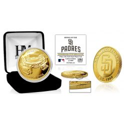 """San Diego Padres """"Stadium"""" Gold Mint Coin"""