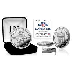 San Francisco 49ers 2021 75th Anniversary Silver Game Coin