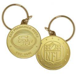 San Francisco 49ers Bronze Bullion Keychain