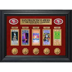 San Francisco 49ers Super Bowl Ticket and Game Coin Collection Framed