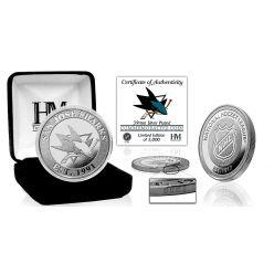 San Jose Sharks Silver Mint Coin