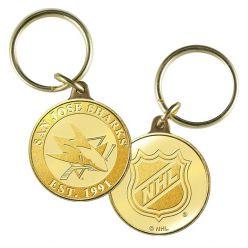 San Jose Sharks Bronze Team Keychain