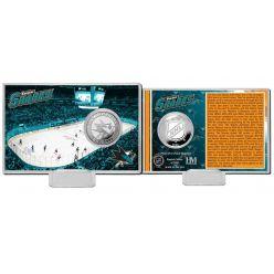 San Jose Sharks History Silver Coin Card
