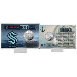 Seattle Kraken 2021 NHL Expansion Draft Silver Coin Card