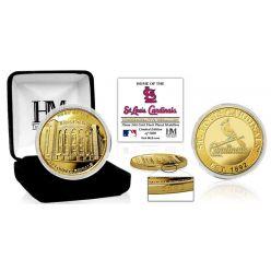 """St. Louis Cardinals """"Stadium"""" Gold Mint Coin"""