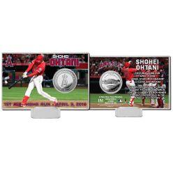 Shohei Ohtani 1st MLB HR Silver Coin Card
