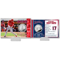 Shohei Ohtani MLB 1st Hit Silver Coin Card