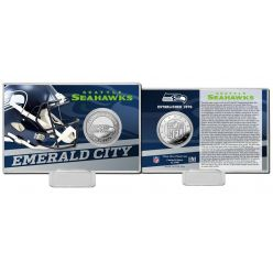Seattle Seahawks 2020 Team History Coin Card