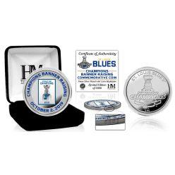St. Louis Blues Banner Raising Color Silver Coin