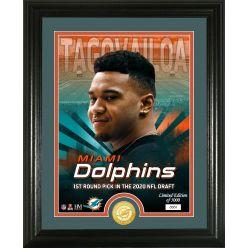 Tua Tagovailoa Miami Dolphins 2020 NFL Draft Bronze Coin Photo Mint