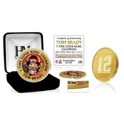 Tom Brady 7-Time Super Bowl Champ Bronze Mint Coin