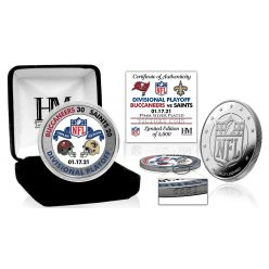 Tampa Bay Buccaneers NFC Divisional Game Victory Silver Mint Coin