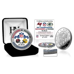 Tampa Bay Buccaneers 2020 NFC Conference Champions Game Victory Silver Mint Coin