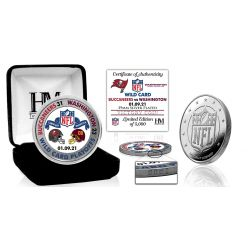 Tampa Bay Buccaneers 2020/21 NFC Wild Card Game Victory Silver Mint Coin
