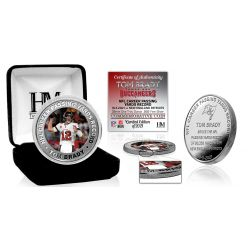 Tom Brady Career Passing Yards Record 1 Troy Oz Silver Coin