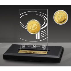 Tampa Bay Lightning 3-Time Stanley Cup Champions Gold Coin in Acrylic Display