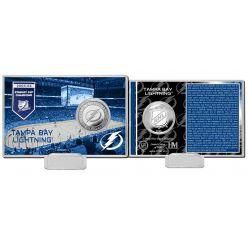 Tampa Bay Lightning History Silver Coin Card