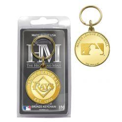 Tampa Bay Rays Bronze Coin Keychain