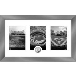 Detroit Tigers Panoramic Art Deco Silver Coin Photo Mint
