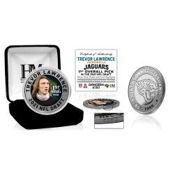 Trevor Lawrence Jacksonville Jaguars 2021 NFL Draft 1st Round Pick Silver Mint Coin