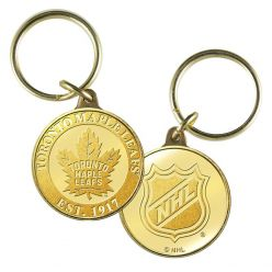 Toronto Maple Leafs Bronze Coin Keychain