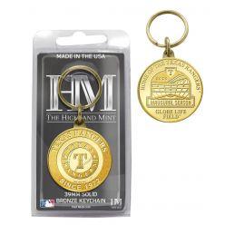 Texas Rangers Coin Keychain