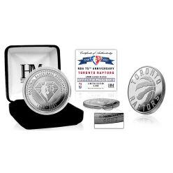 Toronto Raptors NBA 75th Anniversary Silver Mint Coin