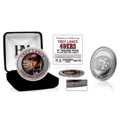 Trey Lance San Francisco 49ers 2021 NFL Draft 1st Round Pick Silver Mint Coin