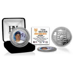 Tom Seaver Baseball Hall of Fame Silver Color Coin