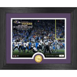 Justin Tucker 66 Yard Game Winning Field Goal Bronze Coin Photo Mint