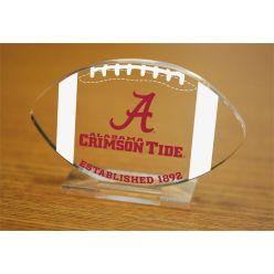University of Alabama Etched Football Acrylic