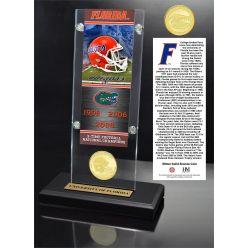 University of Florida Ticket & Bronze Coin Acrylic Desk Top
