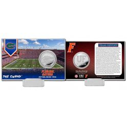 University of Florida Team History Silver Coin Card