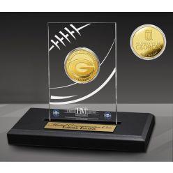 University of Georgia Bulldogs Gold Coin in AcrylicDisplay