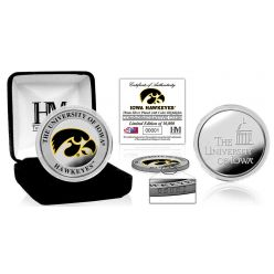 University of Iowa Color Silver Coin