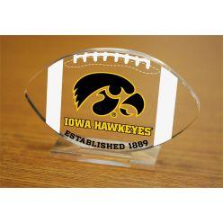 University of Iowa Etched Football Acrylic