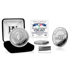 Utah Jazz NBA 75th Anniversary Silver Mint Coin