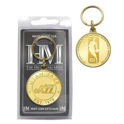Utah Jazz Bronze Mint Coin Keychain