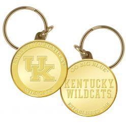 University of Kentucky Basketball Bronze Coin Keychain