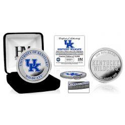 University of Kentucky Basketball Color Silver Coin