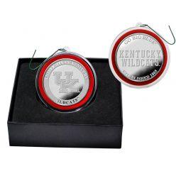University of Kentucky Basketball Silver Coin Ornament