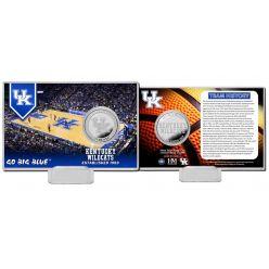 University of Kentucky Basketball Team History Silver Coin Card