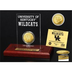 University of Kentucky Basketball 8-Time National Champions Gold Coin Etched Acrylic