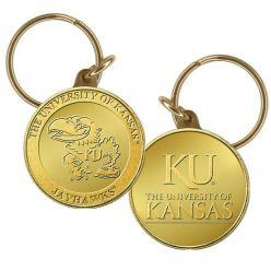 University of Kansas Bronze Coin Keychain